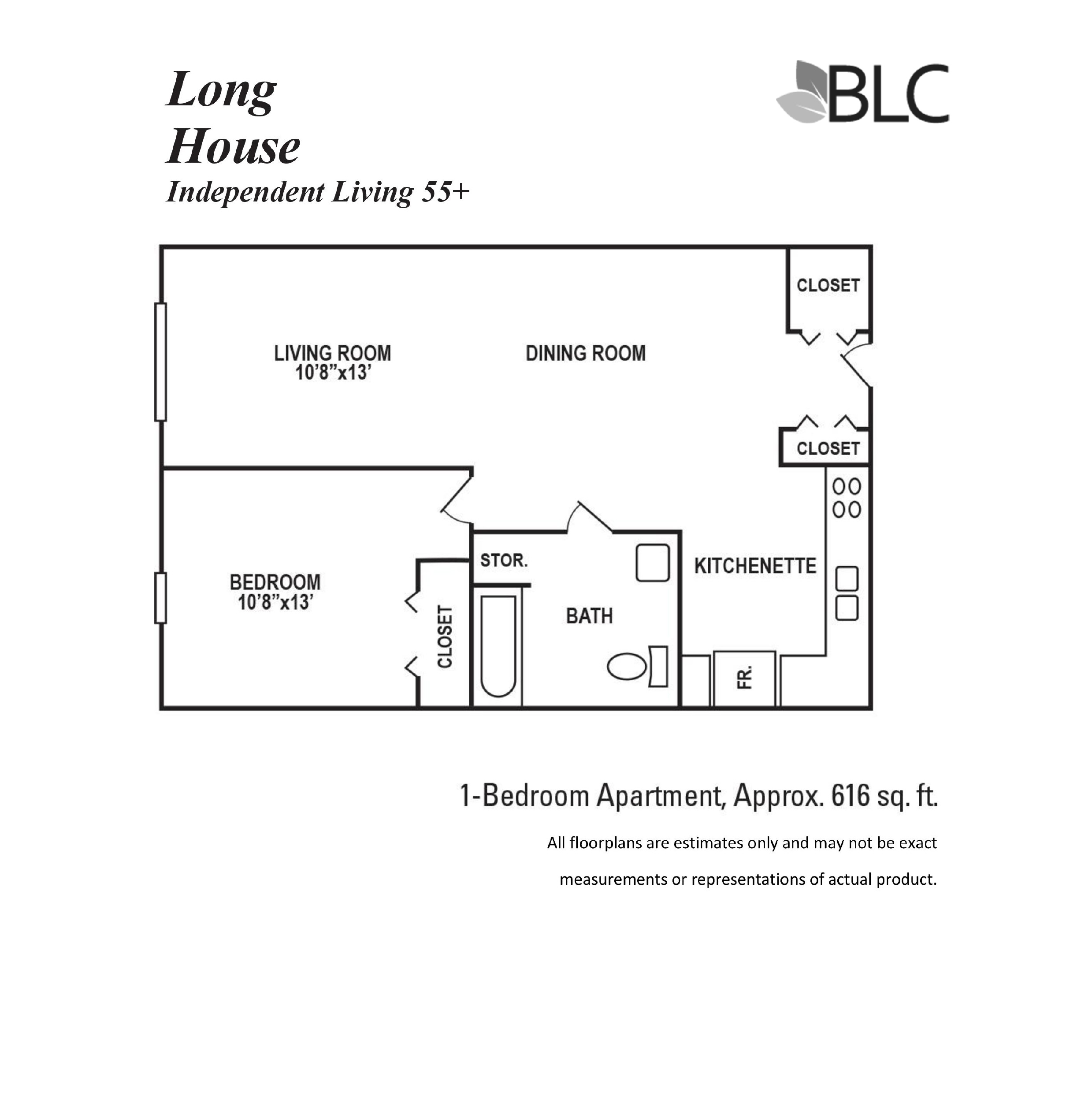 Long House 1 Bedroom Apartment