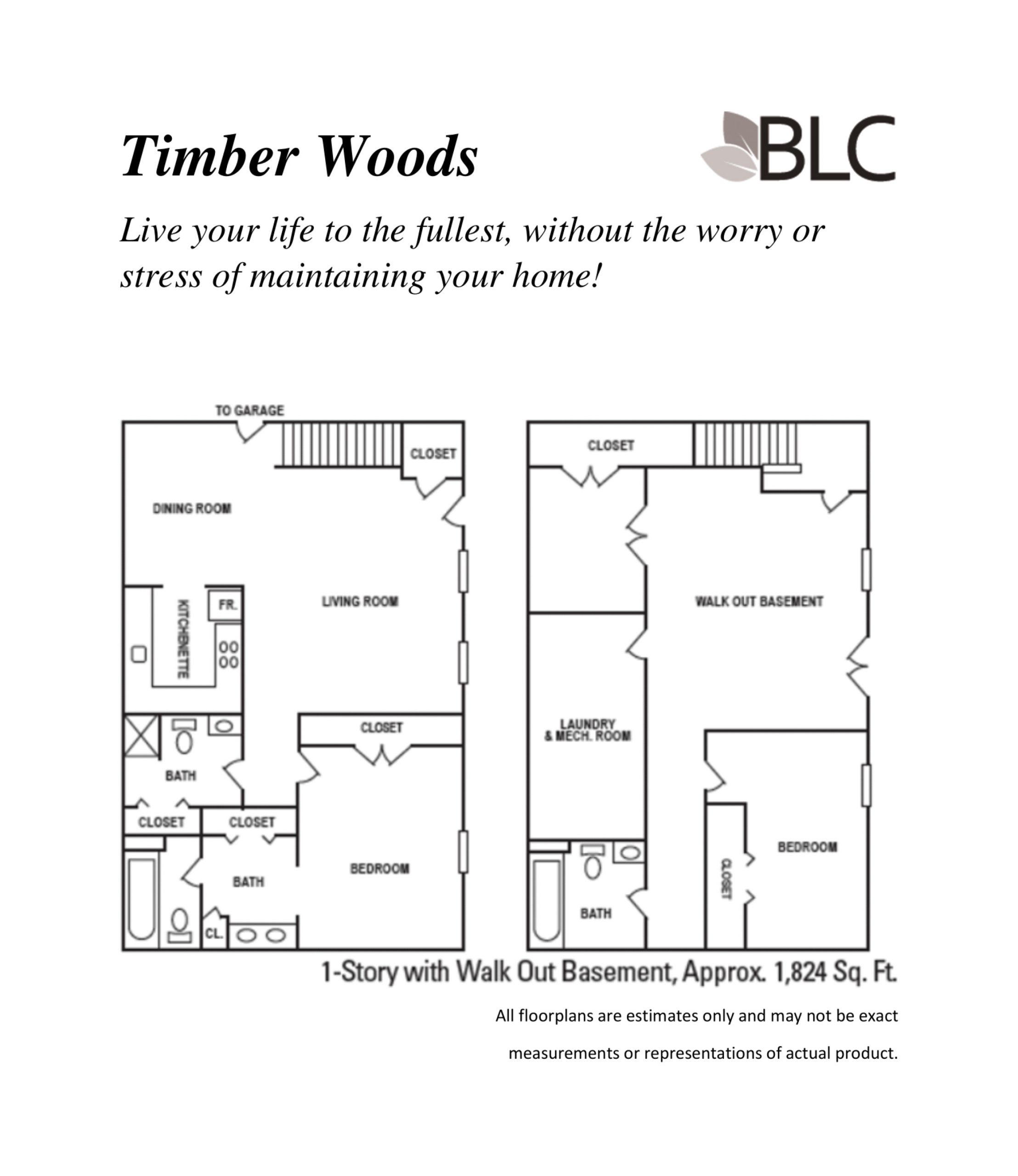 Timber Woods 1 Story With Walkout Basement