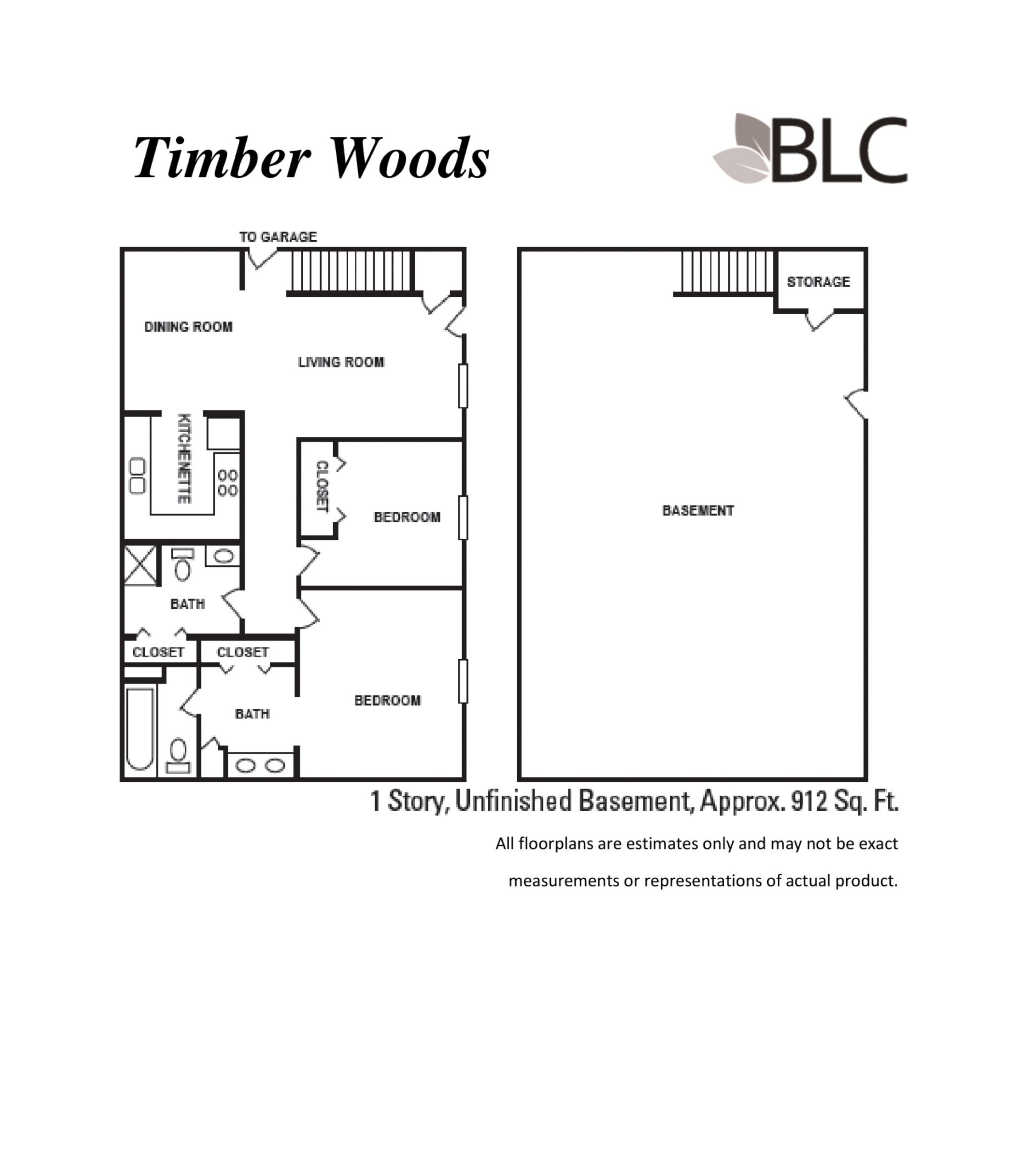 Timber Woods 1 Story With Unfinished Basement