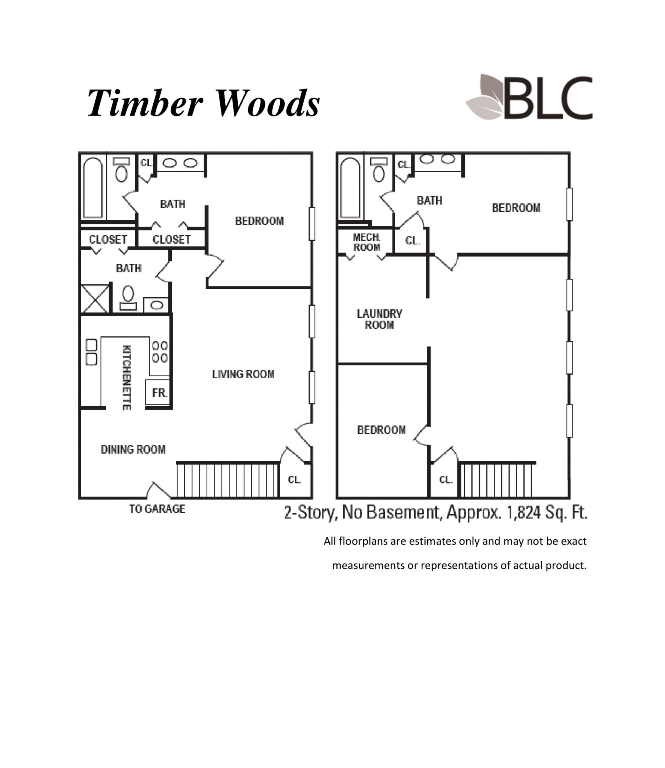 Timber Woods 2 Story No Basement